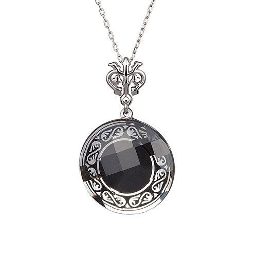 Pendant Magical Ornament Silver Ag 925/Rh  black