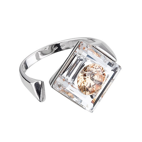 Ring Precious silver Ag925 / Rh with cubic zirconia stones