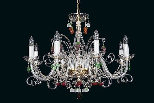 Crystal chandelier L416/8/12 gold