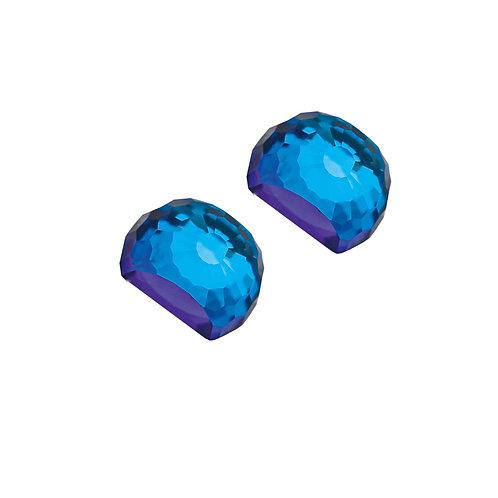 Miltonia  - Earrings Ag 925/Rh - bermuda blue