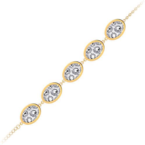 Bracelet gold  stainless steel Bohemian crystal Idared