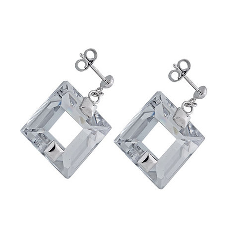 Earrings Galaxias by Aversion silver Ag 925/Rh  pure clear crystal