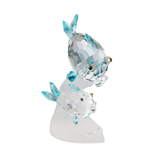 Fish on Wave. Crystal figurine. Gift. 0644 77