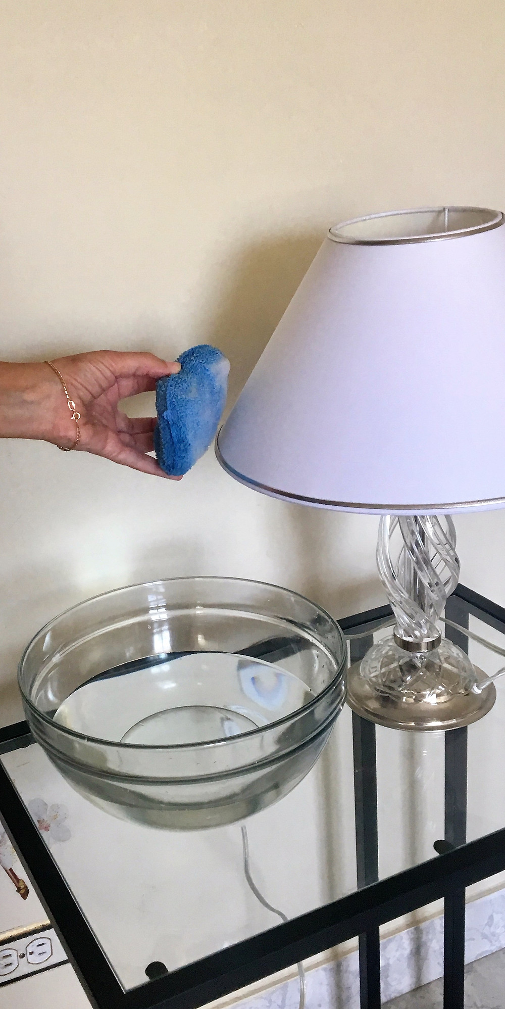 Soap the lampshade