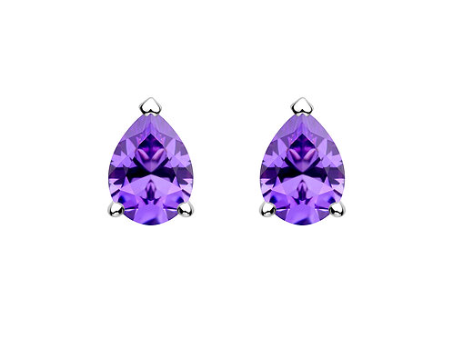 Earrings Lyra Violet cubic zirconia diamond Silver Ag925/Rh 5265 56