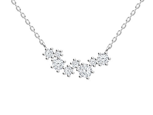 Necklace Orion Colorless cubic zirconia diamond Silver Ag925/Rh 5250 00