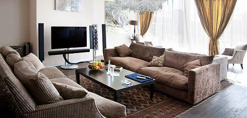 Custom lighting design for a living room by Berkana USA