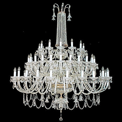 "Large crystal chandelier ""Berkana L744/16+8/02 N"" silver finishes"