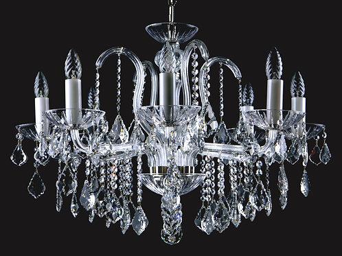 Chandelier clear crystal L226/8/04 silver brass