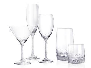 Sets of crystal glasses. Unique, creative, custom made, designer sign