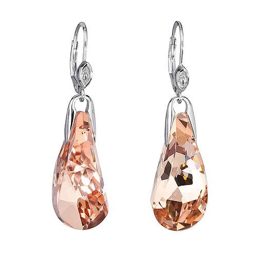 Crystal Beauty - Earrings Ag 925/Rh - apricot
