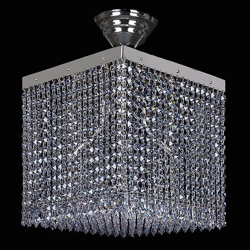 "Modern raindrop crystal chandelier ""Berkana Cube"""