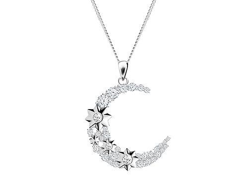 Pendant Orion Colorless cubic zirconia diamond Silver Ag925/Rh 5248 00