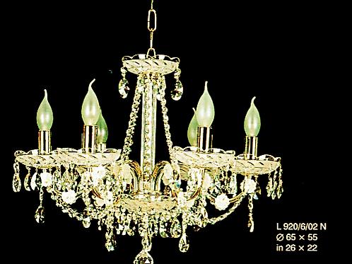 Crystal silver chandelier L920/6/02 Gold