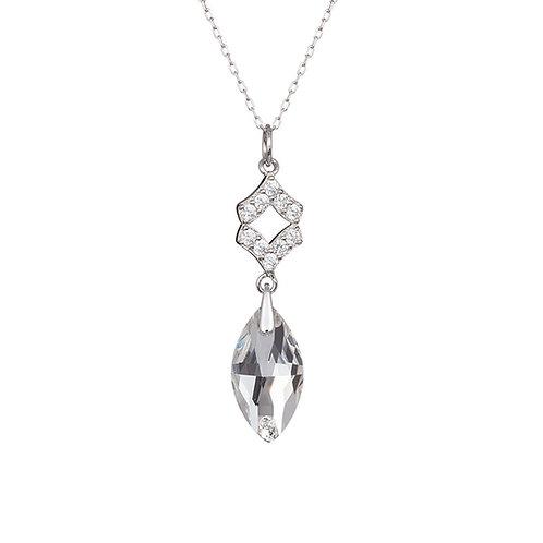 Pendant Crystal Bud  Ag 925/Rh  clear crystal