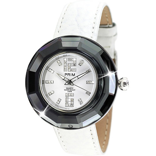 Watch for women white and Black Preciosa crystal 7102 40