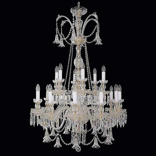 Large crystal chandelier L672/18/19 silver Swarovski