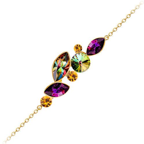 Bracelet gold jewelry alloy with cubic zirconia stones
