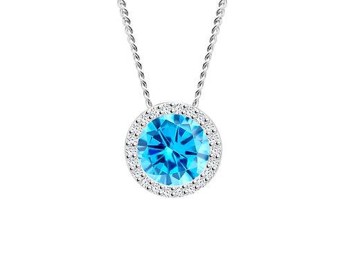 Pendant LYNX  Light Blue sky cubic zirconia stones silver Ag925 / Rh 5268 67
