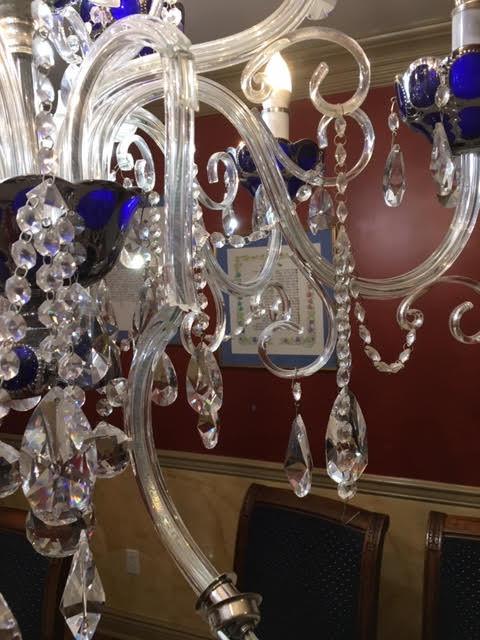 broken arm of bohemian chandelier