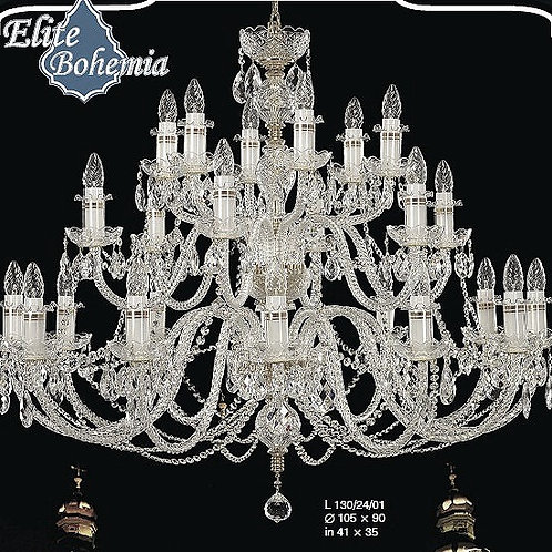 Large crystal chandelier L130/24/01 N silver finished