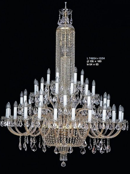 "Large crystal chandeliers ""Berkana L749/54+12/04 N"""
