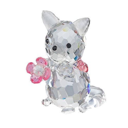 Crystal Collection of Miniature. Kitten with the Pink Flower and the bant