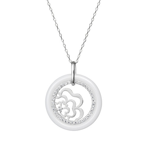 Young - Pendant Ag 925/Rh - white