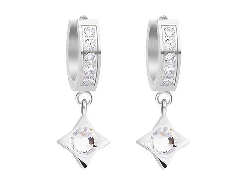 Earrings Gemini crystal cubic zirconia s surgical steel 7331 00