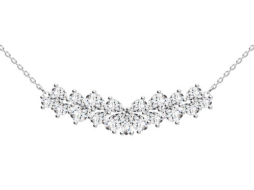 Necklace Libra cubic zirconia diamonds stones Silver AG 925 / Rh 5244 00