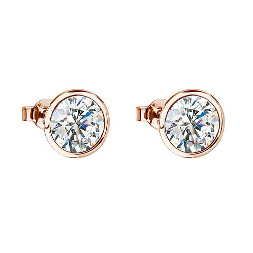 Gold Earrings for women Glamorous with cubic zirconia Czech stones