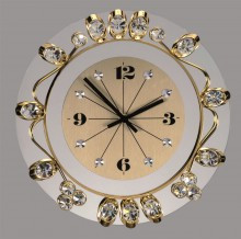Gold wall clocks for high end interiors