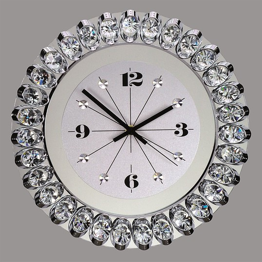 wall clock with premium crystal for luxury design