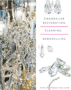 Chandelier restoration, cleaning, remodeling