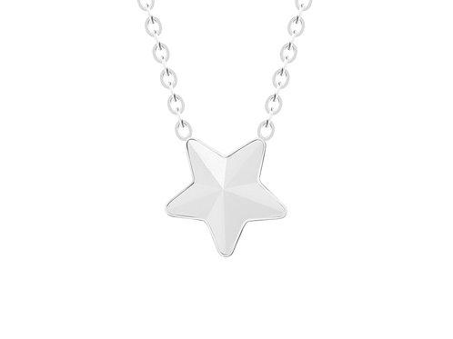Necklace Virgo Crystal star surgical steel  7342 10