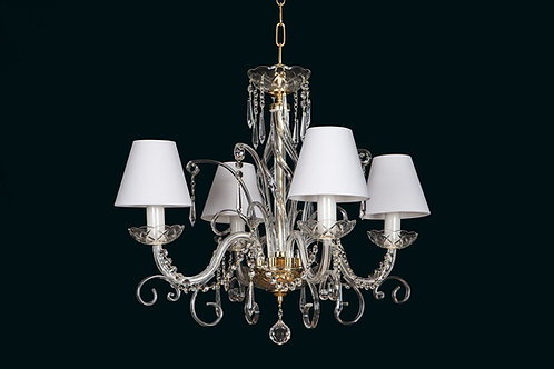 Contemporary crystal chandelier L416/8/03 N with shades