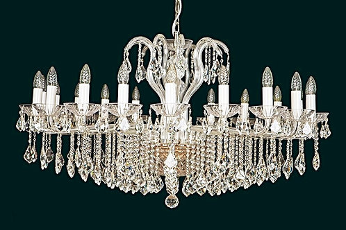 "Large modern crystal chandeliers ""Berkana L226/20/04 S"" gold finishes"