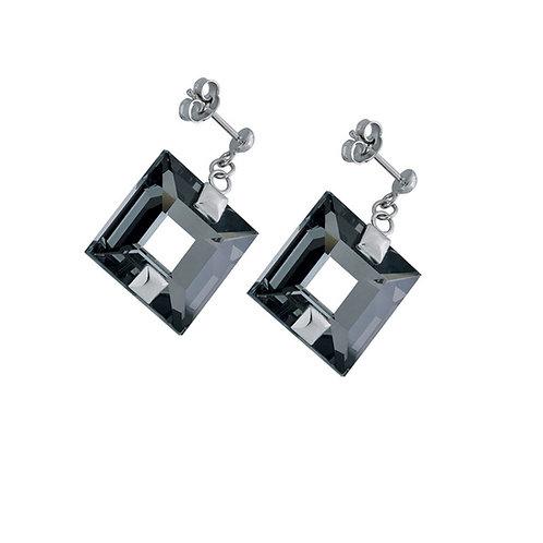 Earrings  Galaxias by Veronika  silver Ag 925/Rh black crystal
