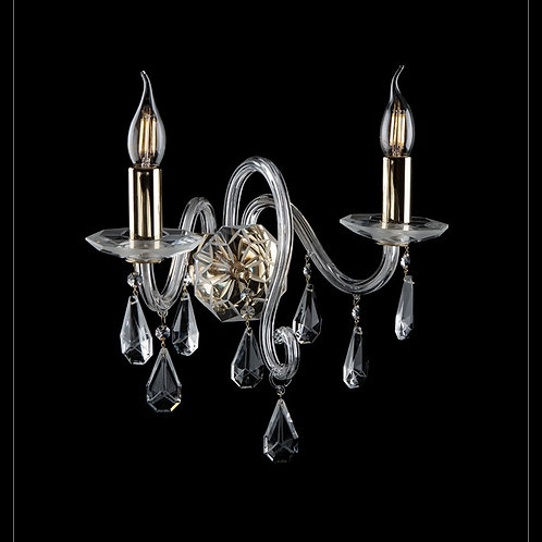 Wall scones crystal silver brass N 209/2/09 N