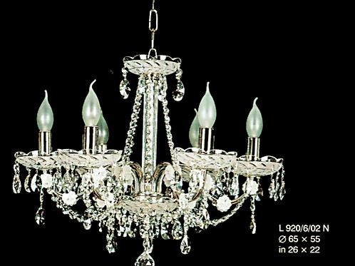 Crystal silver chandelier L920/6/02 N