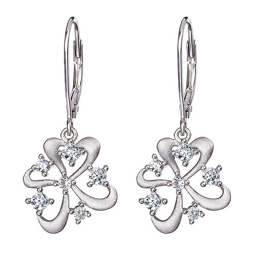 Novel - Earrings Ag 925/Rh - white