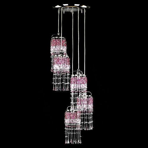 "Modern long crystal chandelier ""Berkana Small Game"""