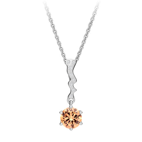 Necklace sterling silver with cubic zirconia stone TILIA