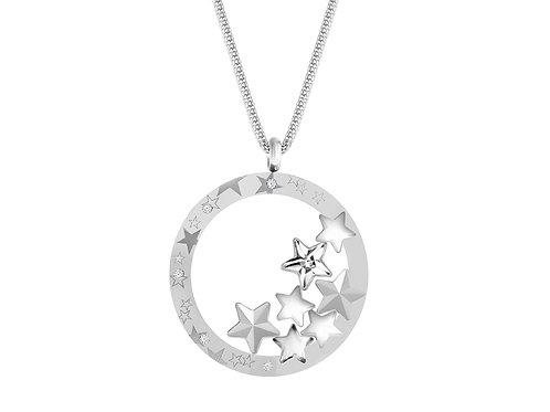 Pendant Virgo Aqua crystal stars  surgical steel 7340 67