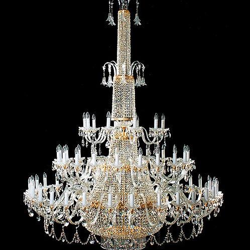"Large crystal chandelier ""Berkana L744/60+20/02S"" gold finishes"