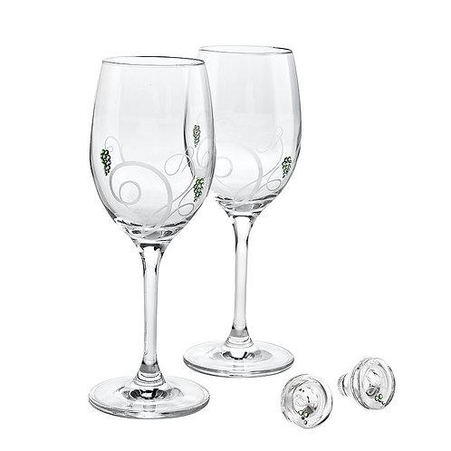 White Wine set. Inspired.  White. 1332 65