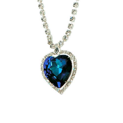 Necklace Heart  Bermuda blue