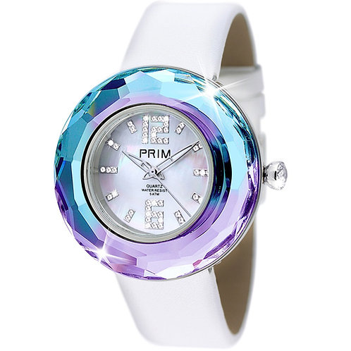 Watches for women Crystal, leather, Swiss Preciosa 7100 43