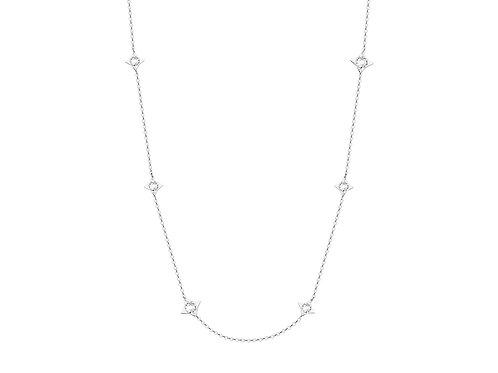 Necklace Gemini crystal cubic zirconia diamonds surgical steel  7337 00