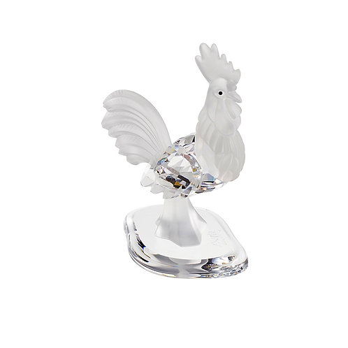 Gift. Rooster crystal symbol of Five Virtues. 0791 10